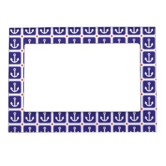 Anclas en azul náutico marcos magneticos para fotos