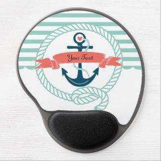Anclas náuticas alfombrilla de raton con gel