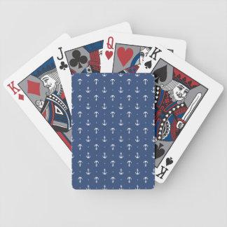 Anclas náuticas baraja de cartas