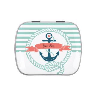 Anclas náuticas latas de dulces