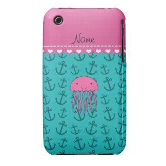 Anclas rosadas conocidas personalizadas de la Case-Mate iPhone 3 coberturas
