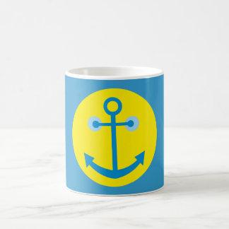 anclas smilie anchor taza básica blanca