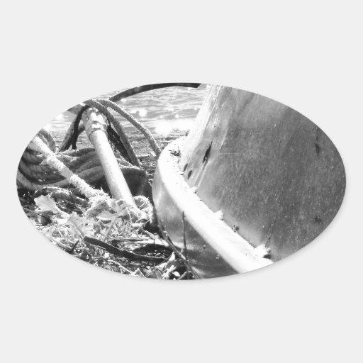 áncleme pegatina ovalada
