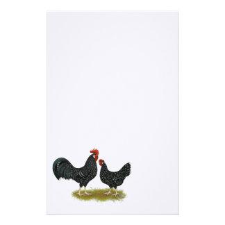 Ancona Chickens Customized Stationery