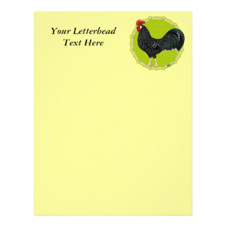 Ancona Rooster Customized Letterhead