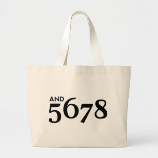 And 5678 tote bag