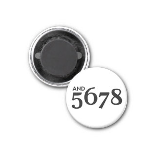 And 5678 fridge magnet