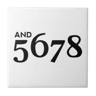 And 5678 tile