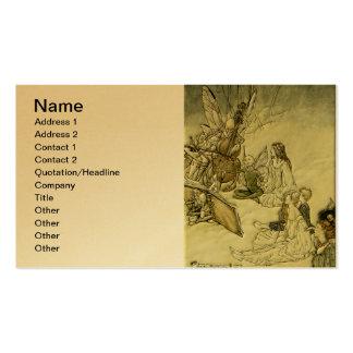 And a Fairy Song - Arthur Rackham Business Card