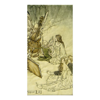 And a Fairy Song - Arthur Rackham Picture Card