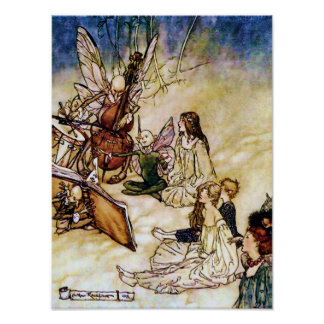 And a Fairy Song by Arthur Rackham Poster