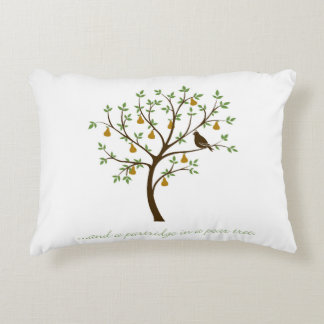 And a partridge in a pear tree decorative pillow
