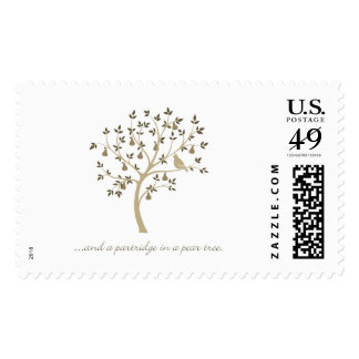 And a partridge in a pear tree postage
