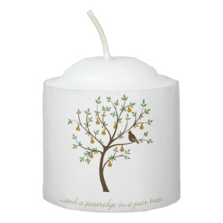 And a partridge in a pear tree votive candle