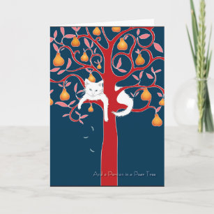 Partridge in a pear tree christmas cards zazzle and a persian in a pear tree holiday m4hsunfo