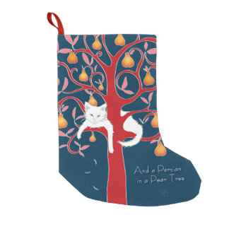 And a Persian in a Pear Tree... Small Christmas Stocking