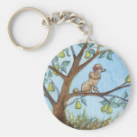 ...And a poo-oodle in a pear tree... Basic Round Button Keychain