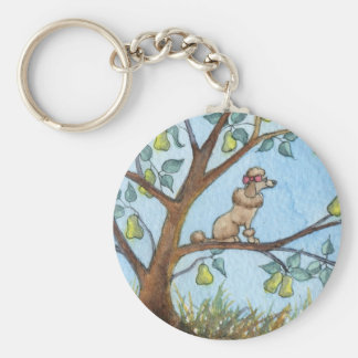 ...And a poo-oodle in a pear tree... Keychain