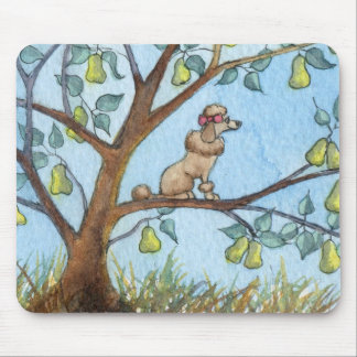 ...And a poo-oodle in a pear tree... Mouse Pad