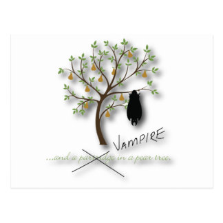 And a vampire in a pear tree postcard