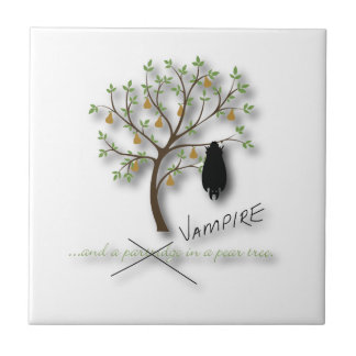 And a vampire in a pear tree tile