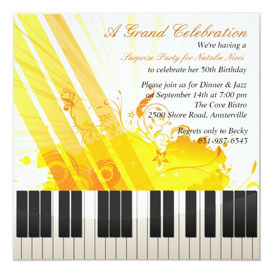 And All That Jazz Invitation