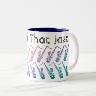 And All That Jazz Pattern Two-Tone Coffee Mug