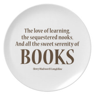 And All The Sweet Serenity Of Books Plate