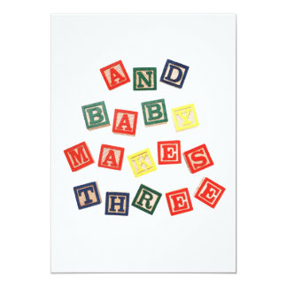 And baby makes three card