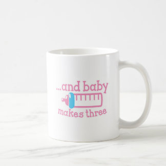 ... and baby makes three coffee mug