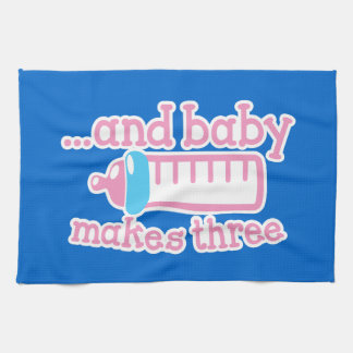 ... and baby makes three kitchen towel