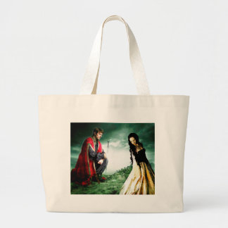 AND CHIVALRY WON HER HEART.jpg Large Tote Bag