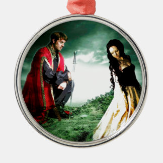 AND CHIVALRY WON HER HEART.jpg Metal Ornament