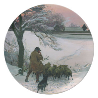 And Dick the shepherd blows his nail, 1886 Melamine Plate