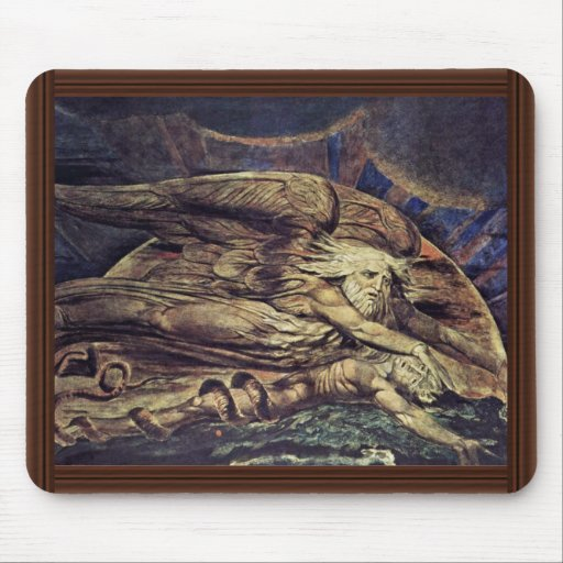 And Elohim Created Adam By William Blake Mouse Pads