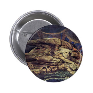 And Elohim Created Adam By William Blake Pinback Button