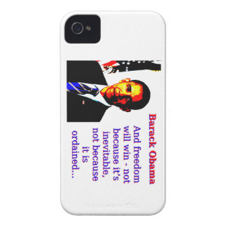 And Freedom Will Win - Barack Obama Case-Mate iPhone 4 Case