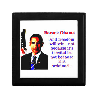 And Freedom Will Win - Barack Obama Gift Box