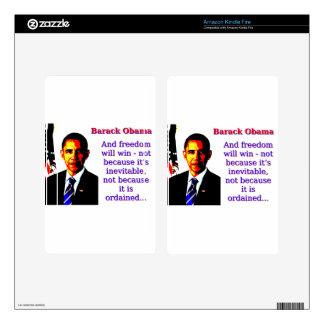And Freedom Will Win - Barack Obama Kindle Fire Skin