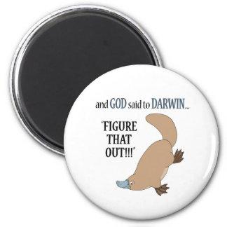 And God said to Darwin.... Fridge Magnets