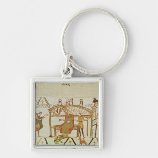 And he comes before King Edward Silver-Colored Square Keychain
