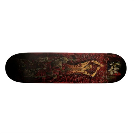 AND HELL FOLLOWED WITH- Proprioception deck Skateboard Deck