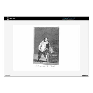 And his house is on fire by Francisco Goya Laptop Skins