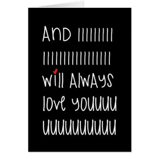And I will always love you cute quote card