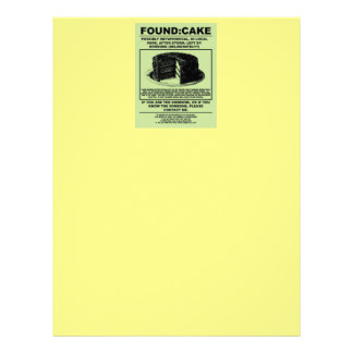 And I'll never have that recipe again... Letterhead