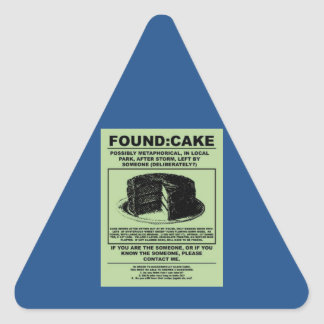And I'll never have that recipe again... Triangle Sticker