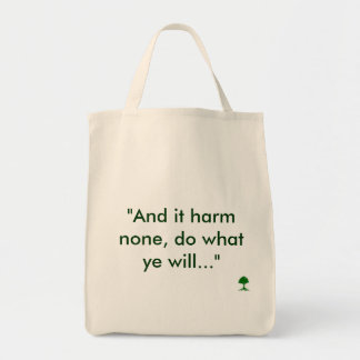 And It Harm None Pagan Tote Bags