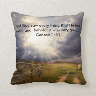 And It Was Very Good Throw Pillow