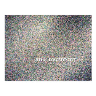 and monotony postcard