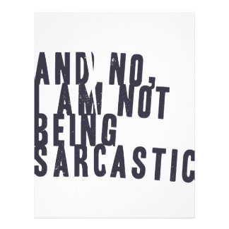 And no, I am not being sarcastic Letterhead